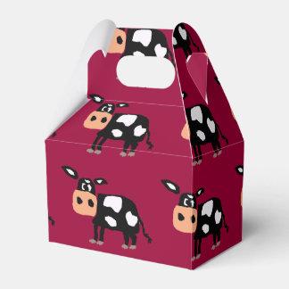 Caja de regalo primitiva del arte de la vaca caja para regalos