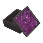 Caja de regalo púrpura Amethyst de los remolinos r Caja De Regalo De Calidad