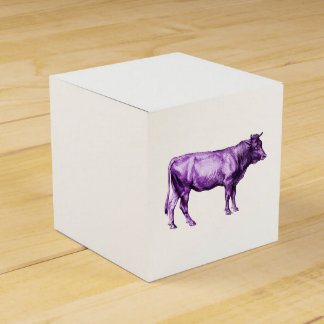 Caja de regalo púrpura de Bull de la vaca del Caja Para Regalos