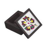 Caja de regalo púrpura de la joyería de la flor de caja de recuerdo de calidad