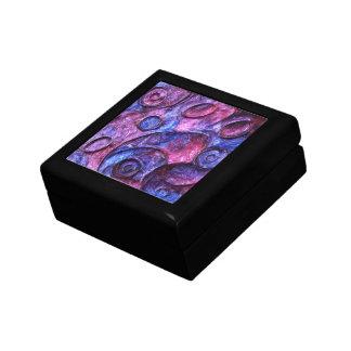 Caja de regalo púrpura de la joyería del recuerdo