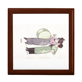 Caja de regalo púrpura del verde de la moda de las