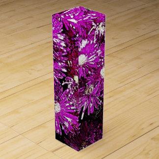 Caja de regalo púrpura del vino del extracto de la cajas para botellas de vino