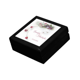 Caja de regalo púrpura rosada del guisante de olor
