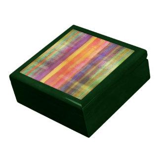 Caja de regalo rayada moderna del modelo del arte