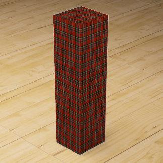 Caja de regalo real del vino del tartán de Stewart Cajas Para Botellas De Vino