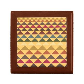 Caja de regalo retra de Patterened de la pirámide