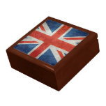 Caja de regalo retra del estilo de la bandera joyero cuadrado grande