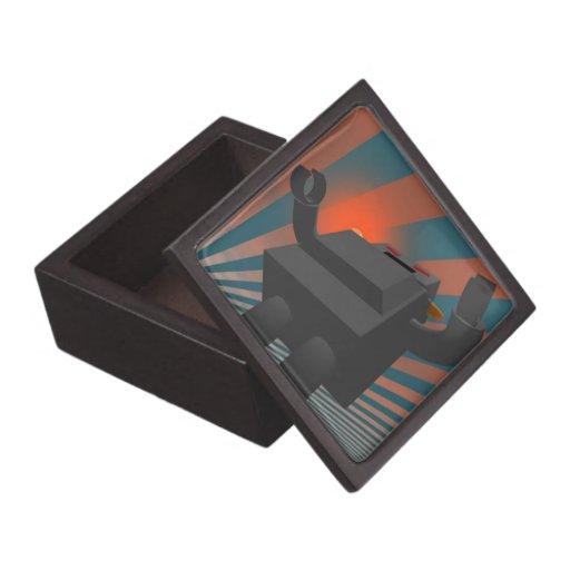 Caja de regalo retra del premio del robot 2 caja de joyas de calidad