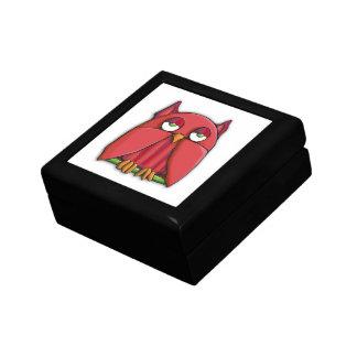 Caja de regalo roja del búho