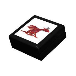 Caja de regalo roja del dragón