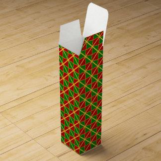 Caja de regalo roja del vino del oro verde cajas para vino