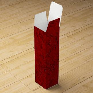 Caja de regalo Roja esculpida del vino de las Caja Para Bino