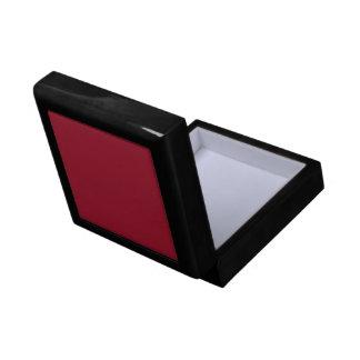 Caja de regalo roja marrón sólida de la baldosa ce joyero cuadrado pequeño