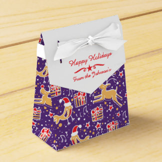 Caja de regalo roja púrpura del navidad del pájaro cajas para detalles de boda