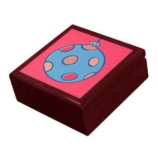 Caja de regalo roja redonda de las bolas retras de