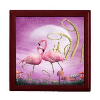 Caja de regalo rosada caprichosa de la joyería de  joyero cuadrado grande