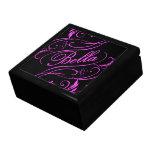 Caja de regalo rosada de Bella Joyero Cuadrado Grande