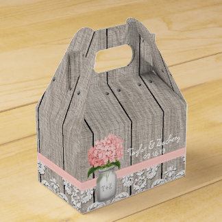 Caja de regalo rosada del favor del boda del tarro cajas para detalles de boda