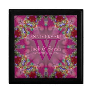 Caja de regalo rosada exótica del aniversario del