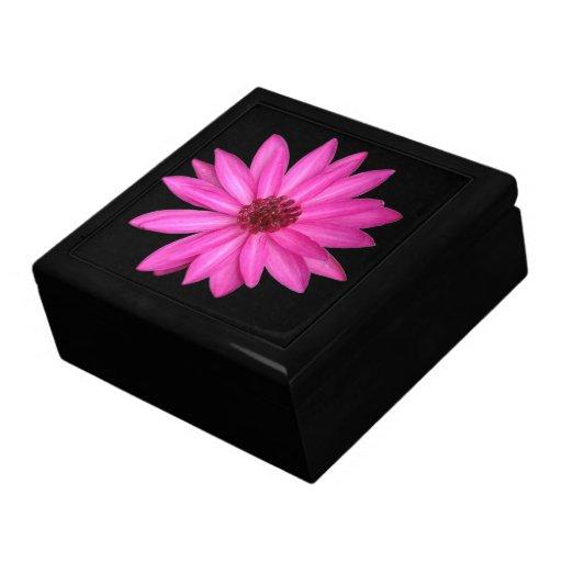 Caja de regalo rosada púrpura violeta de la flor d