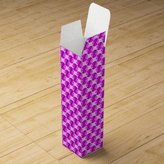 Caja de regalo rosada y púrpura del vino caja de vino