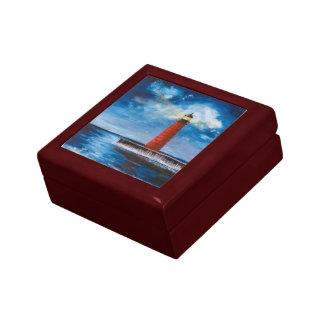 Caja de regalo sola del faro