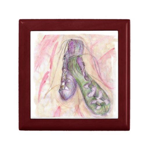 Caja de regalo suave irlandesa de los zapatos joyero cuadrado pequeño