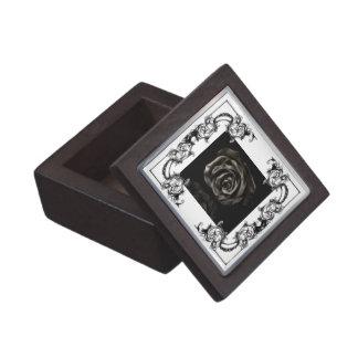 Caja de regalo subió negro gótico del vampiro caja de regalo de calidad