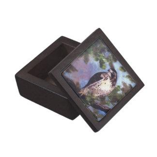 Caja de regalo superior atada rojo del halcón cajas de joyas de calidad