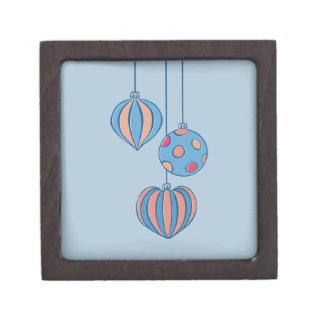 Caja de regalo superior azul de las bolas retras d caja de recuerdo de calidad