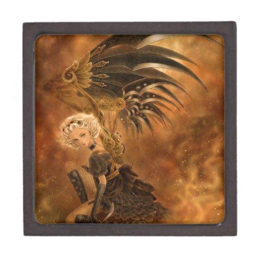 Caja de regalo superior caida Steampunk del ángel Caja De Regalo De Calidad