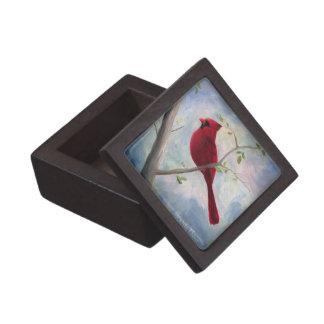 Caja de regalo superior cardinal caja de recuerdo de calidad