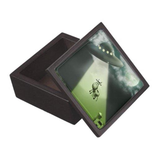 Caja de regalo superior de la abducción de la vaca caja de recuerdo de calidad