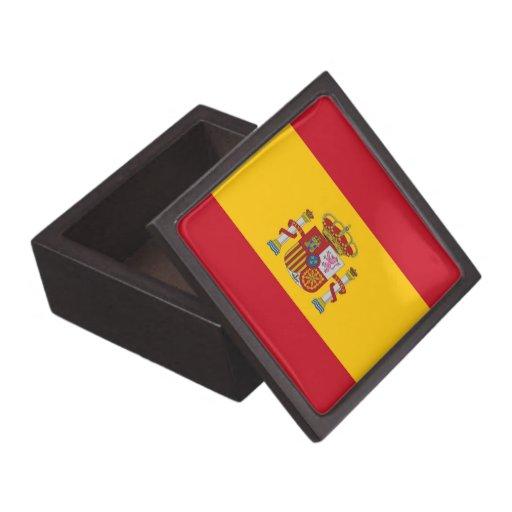 Caja de regalo superior de la bandera española caja de regalo de calidad