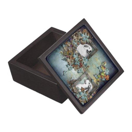 Caja de regalo superior de la escena azul de los g caja de recuerdo de calidad