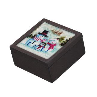 Caja de regalo superior de la familia del muñeco d cajas de recuerdo de calidad