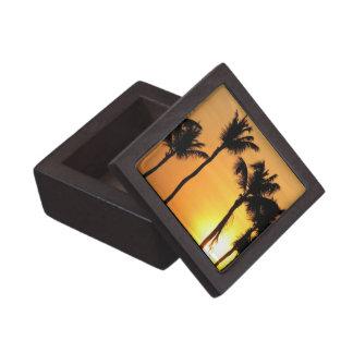 Caja de regalo superior de la puesta del sol tropi cajas de recuerdo de calidad