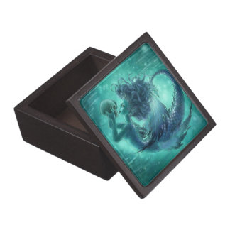 Caja de regalo superior de la sirena oscura cajas de joyas de calidad