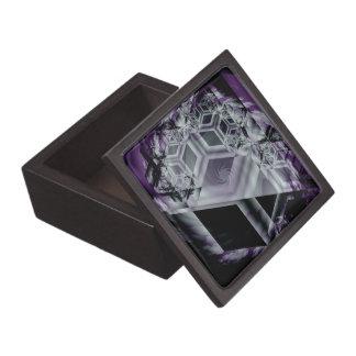 Caja de regalo superior de la tonalidad púrpura caja de regalo de calidad