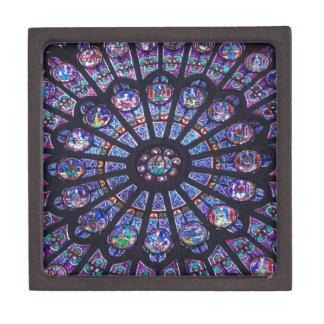 Caja de regalo superior de la ventana color de ros cajas de joyas de calidad