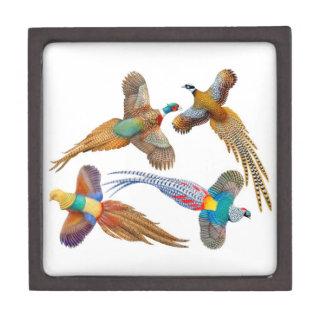 Caja de regalo superior de los faisanes salvajes cajas de joyas de calidad