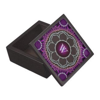 Caja de regalo superior de Monograrm de la mandala Caja De Joyas De Calidad