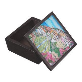 Caja de regalo superior de Positano Cajas De Recuerdo De Calidad