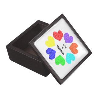 Caja de regalo superior del amor de los corazones  cajas de joyas de calidad
