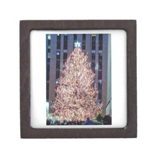 Caja de regalo superior del árbol de navidad de NY Caja De Joyas De Calidad