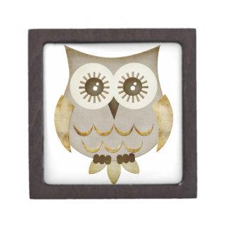 Caja de regalo superior del búho ancho de los ojos cajas de regalo de calidad