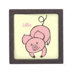 Caja de regalo superior del cerdo rosado caja de recuerdo de calidad