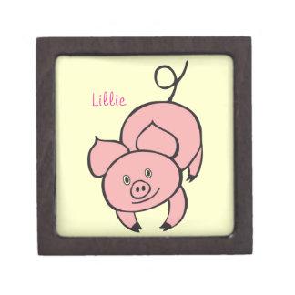 Caja de regalo superior del cerdo rosado caja de regalo de calidad