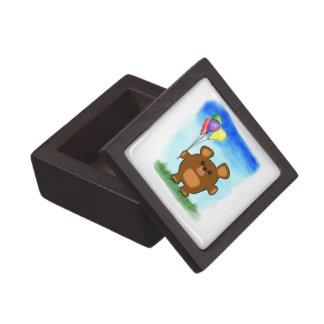 Caja de regalo superior del dibujo animado del oso caja de recuerdo de calidad